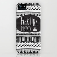 HAKUNA MATATA  iPhone Case by Vasare Nar | Society6