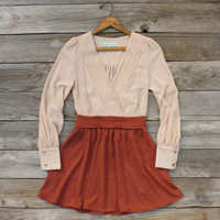 West Village Dress in Rust, Sweet Women&#x27;s Bohemian Clothing