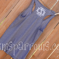 Monogram Tank Top by MiniSparrows on Etsy