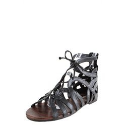 Bamboo Fenchel03 Black Laced Cutout Gladiator Sandals and Womens Fashion Clothing & Shoes - Make Me Chic
