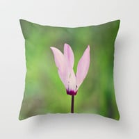 Pink Cyclamen Throw Pillow by Around the Island (Robin Epstein) | Society6