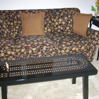 Coffee Table Cribbage Board   Classic Black  by TheRightJack