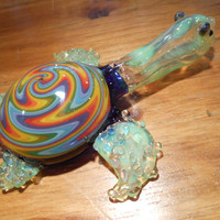 Glass Pipe - Turtle pipe - Glass Turtle Pipe - Wig Wag Turtle - Tobacco Pipe - Tobacco
