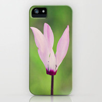 Pink Cyclamen iPhone Case by Around the Island (Robin Epstein) | Society6