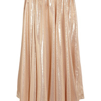 Vionnet|Metallic silk-blend circle skirt|NET-A-PORTER.COM