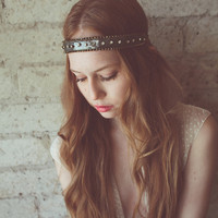 Gunmetal sequin and rhinestone headband- style 601