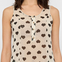 Big Hearts Tank in White :: tobi