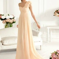 Gorgeous dresses  Attractive Sheath/Column One-shoulder Sweep Train Prom Dress