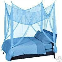 Amazon.com: OctoRose ® Teal Blue 4 Poster Bed Canopy Mosquito Net Full Queen King: Home & Kitchen