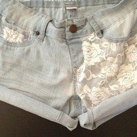Sirrah&#x27;s Closet  White Laced Front Shorts