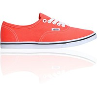 Vans Girls Authentic Lo Pro Hot Coral & True White Shoe