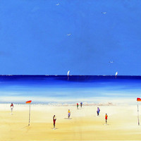 At the Beach  ORIGINAL PAINTING Australian Painting  by Borettoart