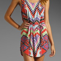 Short Braided Belt Dress in Maya Stone by Mara Hoffman at Pesca Trend