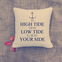 Anchor Pillow - Custom Pillows - Nautical throw pillow - Cottage deco - Home deco