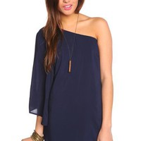 Serious Flare Dress - Navy in Features Back In Stock at Nasty Gal