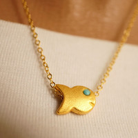Fish Necklace- Small delicate jewelry