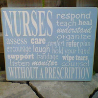 Nurses wooden sign by dressingroom5 on Etsy