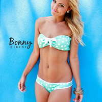 Polka Dot Bikini With Bow on the Bottoms