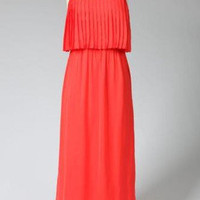 QueenofHearts - Pleated Maxi Dress