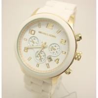 Fashion Unisex M-K Watch, White