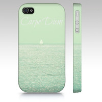 Carpe Diem - iPhone 3, 4, 5, iPod Touch 4th 5th Gen,. Samsung, HTC, Blackberry  - Sea, Ocean, Sailboat, Nature, cell phone case,