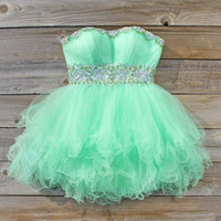 Spool Couture Mint Goddess Dress, Sweet Women's Party Dresses