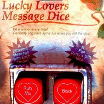 Amazon.com: Lucky Lovers Message Dice: Sports & Outdoors