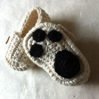 Polar Bear Paw Baby Moccasins by beliz82 on Etsy