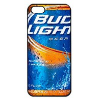 Bud Light Beer Apple iPhone 5 Case (Black)