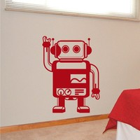 Kids Wall Decals Robby the Robot Vinyl Wall Art, Removable