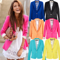Vixen Boutique — One Button Lapel Casual Blazer
