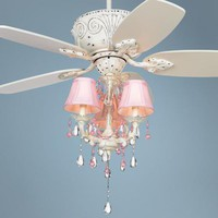 "43"" Casa Deville Pretty in Pink Pull Chain Ceiling Fan - #87534-45955-53567 
