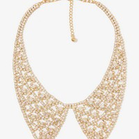 Rhinestoned Peter Pan Collar Necklace