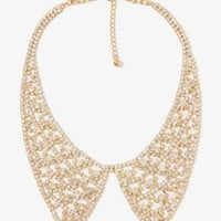Rhinestoned Peter Pan Collar Necklace | FOREVER 21 - 1040494961