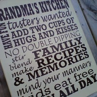 Wooden Sign Grandma&#x27;s Kitchen by dressingroom5 on Etsy
