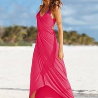 Maxi Wrap Cover-up Dress