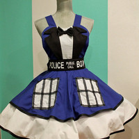Doctor Who TARDIS Suit Cosplay Apron Pinafore Dress-Accessory
