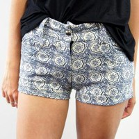 Ikat mini shorts