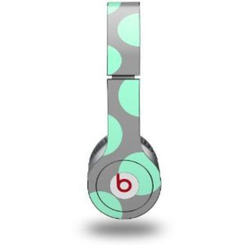Kearas Polka Dots Mint And Gray Skin (fits Beats Solo HD Headphones)