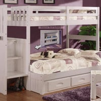 Hutton Twin Over Full Stairway Bunk Beds