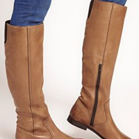 ASOS CHIEF Leather Knee High Boots at asos.com
