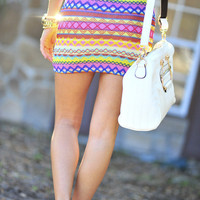 RESTOCK Born To Be Bright Skirt: Multi | Hope's