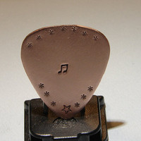 Copper Guitar Pick Handmade for the Serious Musician by NiciLaskin