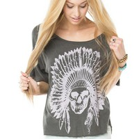Angie Indian Skull Top