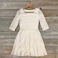 Native Rose Dress in Cream, Sweet Women&#x27;s Bohemian Clothing
