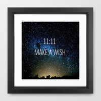 MAKE A WISH Framed Art Print by Sjaefashion | Society6