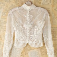 Free People Vintage Sheer Lace Top