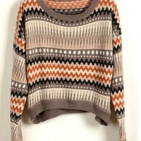 Vintage Loose Stripe Sweater
