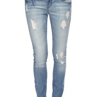 Life In Progress™ Destroyed <br>Skinny Jeans | FOREVER 21 - 2005757238
