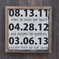 Custom Wood Wedding sign, Personalized Engagement Gift,Wedding Gift, Engagement Present, Bridal Shower Gift